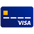Illustration of Visa credit card.