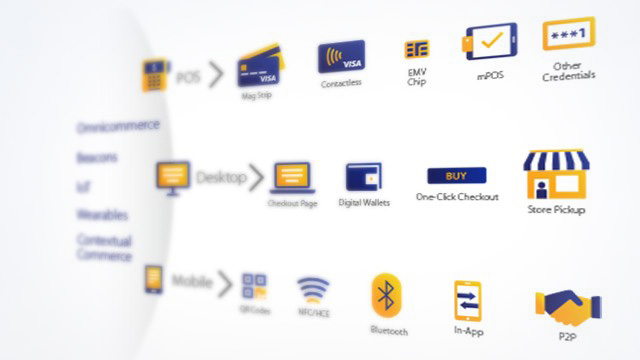 different Visa icons on a web page